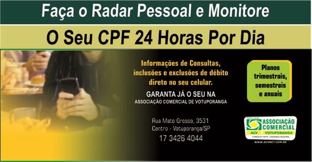Monitore seu CPF 24 horas por dia